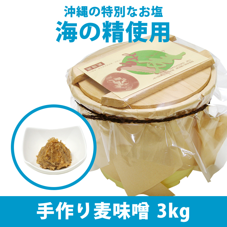 手作り麦味噌(海の精)3kg